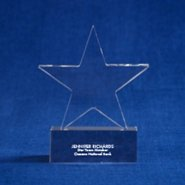 Crystal Trophy - Star - Small